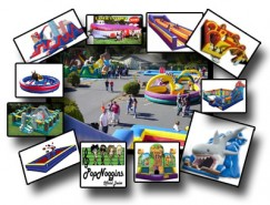Prime Time Inflatable Games and Bounce Houses Logo