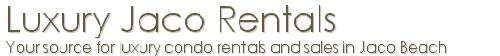 Luxury Jaco Beach Condo Rentals in Costa Rica Logo