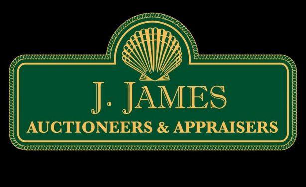 J. James Auctioneers & Appraisers Logo
