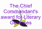 The Chief Commandant's award for Literary Geniuses Logo