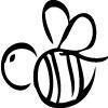 Kraftee Bee Cottage Logo