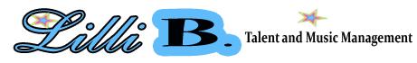 Lilli B. Talent & Music Management Logo