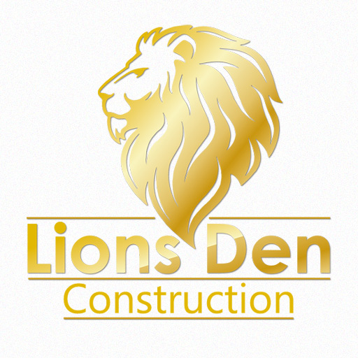 Lion's Den Construction Logo