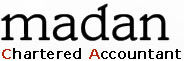 Madan Chartered Accountant Logo