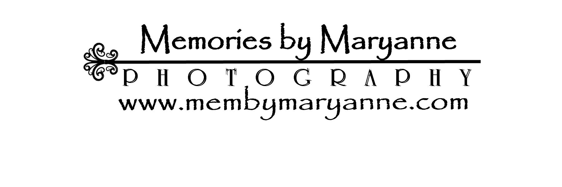 Memories by Maryanne Photography Logo