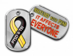 Military With PTSD Logo