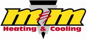 M & M Heating & Cooling Logo