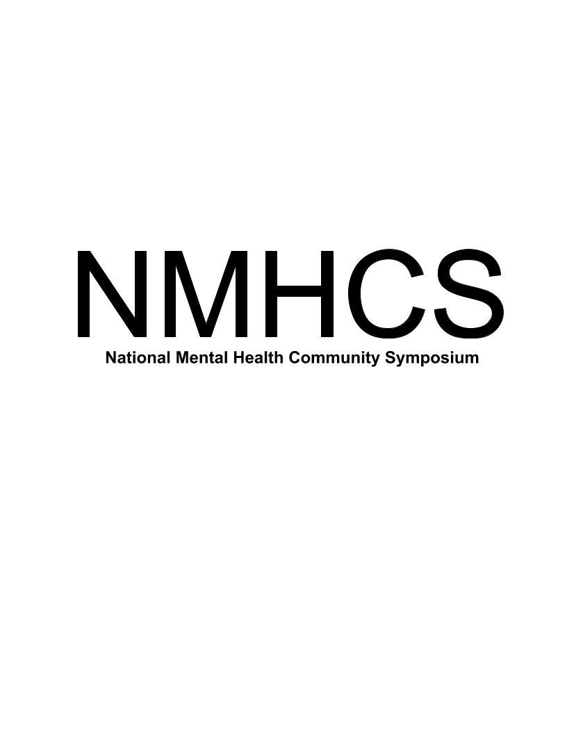 National Mental Health Community Symposium Logo