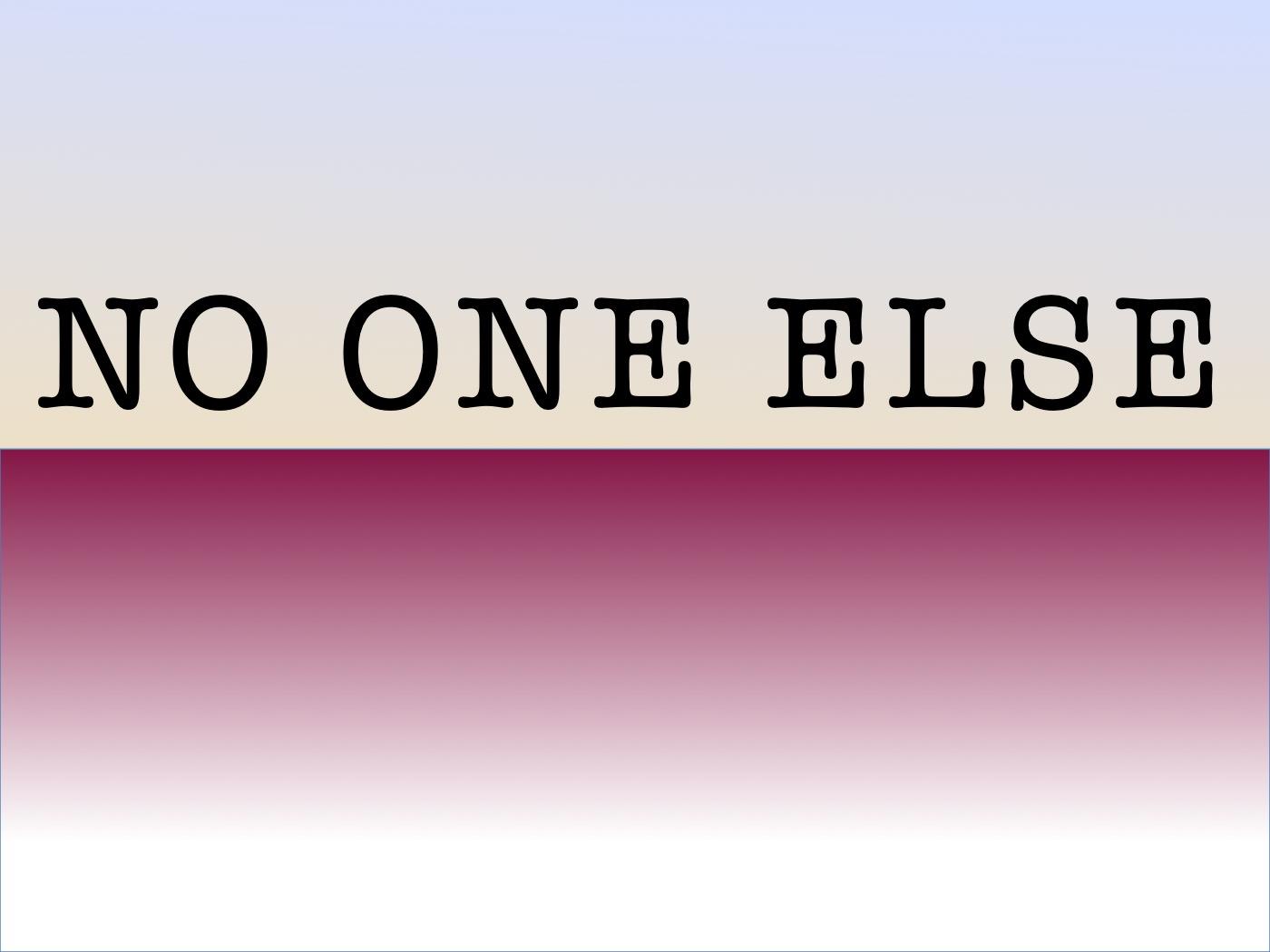 No One Else Media Logo