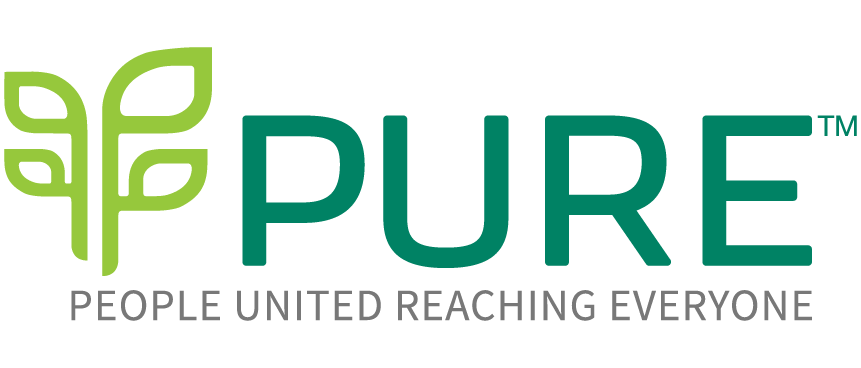 PURE: People United Reaching Everyone Logo
