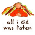 all i did was listen Logo
