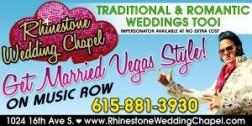 The Rhinestone Wedding Chapel Logo