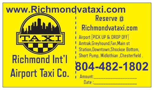 Richmond Intl Airport Taxi Logo
