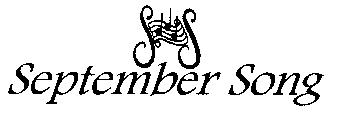 September Song Musical Theatre Logo