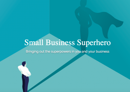 Small Business Superhero Logo