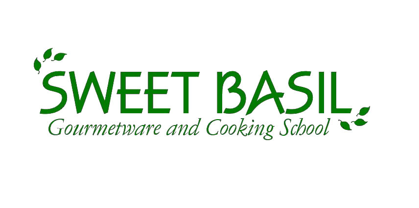Sweet Basil Gourmetware & Cooking School Logo