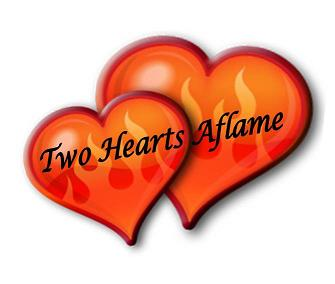 Two Hearts Aflame Logo