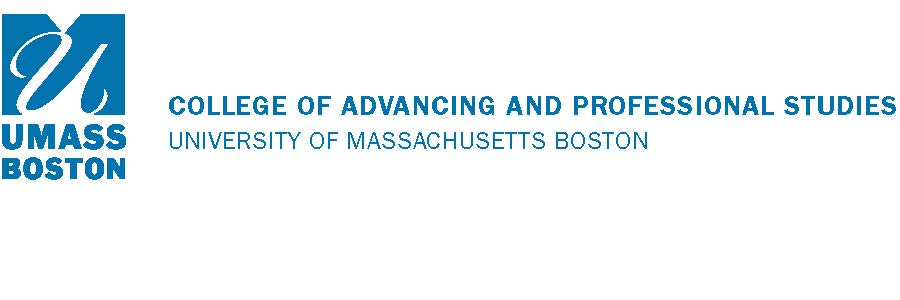 UMass Boston Advancing & Professional Studies Logo