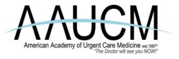 American Academy of Urgent Care Medicine Logo