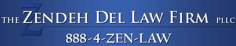 The Zendeh Del Law Firm Logo
